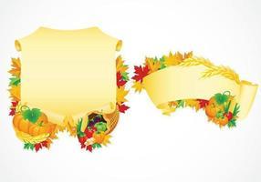 Pacchetto di vettore di pergamene del ringraziamento