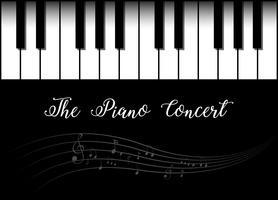 Disegno di sfondo con pianoforte vettore