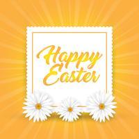 Sfondo di Pasqua con le margherite vettore