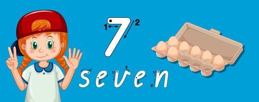 Numero sette guida di tracciamento