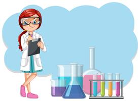 Uno scienziato e attrezzature di laboratorio