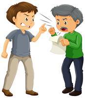 Due uomini arrabbiati che discutono