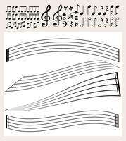 Note musicali e modello di scala vettore