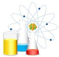 Bicchieri pieni di liquido colorato vettore