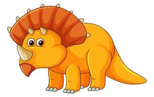 Un triceratopo su sfondo bianco
