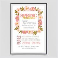 Disegno vettoriale Poster Festival di primavera