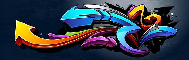 Sfondo di graffiti vettore