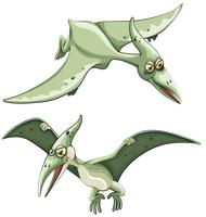 Pterosauro che vola nel cielo
