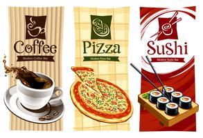 Disegni del modello di banner di cibo