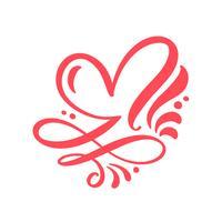 Illustrazione vettoriale di amore segno del cuore