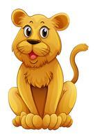 Cucciolo di leone con faccia felice vettore