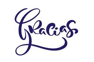 """Gracias"" (""Grazie"" in spagnolo) Modern brush calligraphy"