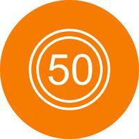 Icona limite di velocità 50 vettore