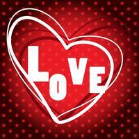 Disegno del manifesto con la parola amore