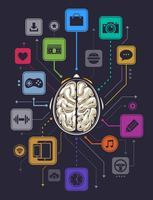 Infographics di attività cerebrale