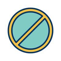 Icona di vettore proibito