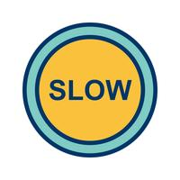Icona lenta vettoriale