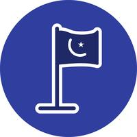 Icona di vettore della bandiera islamica