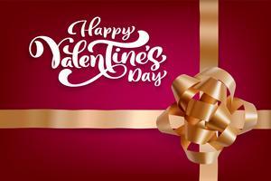 Disegno vettoriale di tipografia Happy Valentines Day per biglietti di auguri e poster