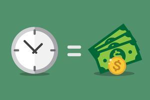 Il tempo è denaro vettore