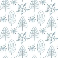 Reticolo senza giunte di vettore di Natale in stile scandinavo. Meglio per cuscino, design tipografia, tende