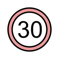 Icona di limite di velocità 30 di vettore