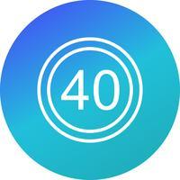 Icona di limite di velocità 40 di vettore
