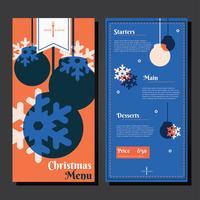 Vettore del modello del menu della cena di Natale