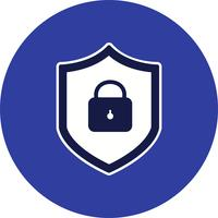 Icona di vettore di protezione online