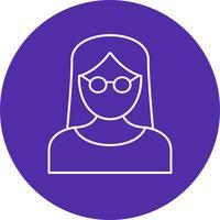 Icona femminile di vettore dello scienziato