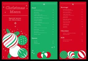 carta del menu cena di Natale