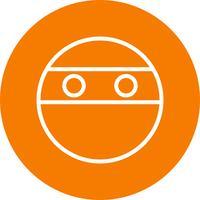 icona di vettore di ninja emoji