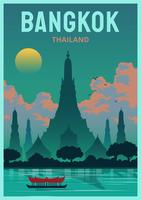 Punti di riferimento di Bangkok vettore