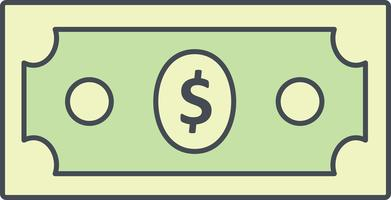 Icona di vettore del dollaro