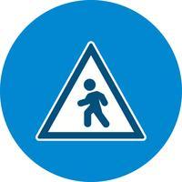 Icona del passaggio pedonale di vettore