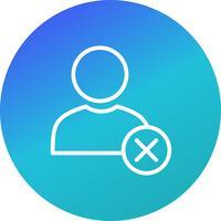 Rimuovi l'icona del vettore utente