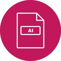Icona di vettore di AI