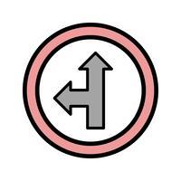 Vector Vai dritto o icona sinistra
