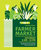Mercato degli agricoltori di Flyer Design