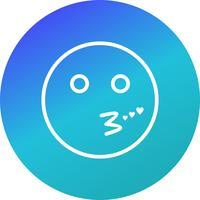 Icona di vettore di Emoji di bacio