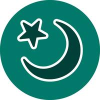 icona di vettore della luna crescente