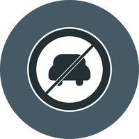 Vettore Nessuna voce per l'icona del veicolo a motore
