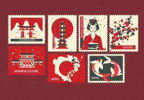 vettore di francobolli tokyo