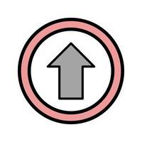 Vector Vai dritto sull'icona