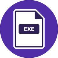 Icona di vettore EXE