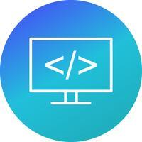 Icona di programmazione vettoriale