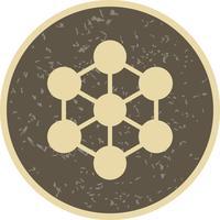 Icona di vettore della molecola