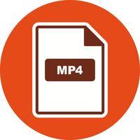 Icona di vettore MP4