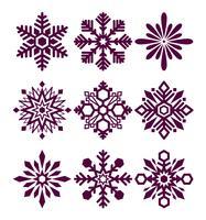 Set di fiocchi di neve vettoriale
