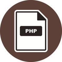 Icona di vettore di PHP